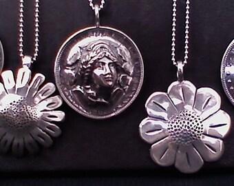 Silver Dollar Pendant Options