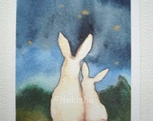 Star Gazing - ACEO Sized Archival Print