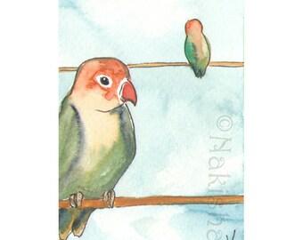 The BlueDogRose Tarot - Original Art - Five of  Birds