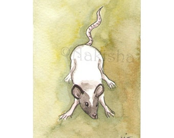 The BlueDogRose Tarot - Original Art - The Mouse Kit