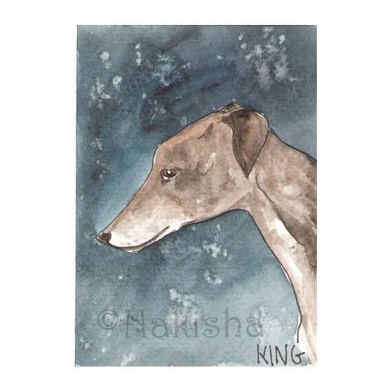 The BlueDogRose Tarot - Original Art - King of Dogs