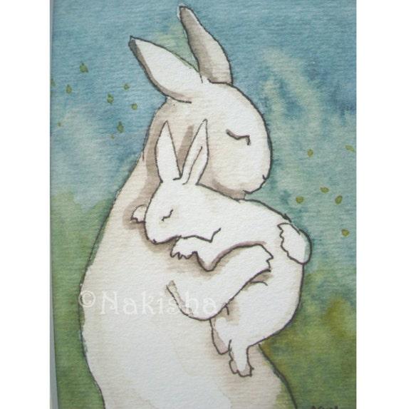 Bunny Hug - Small Archival Fine Art Print