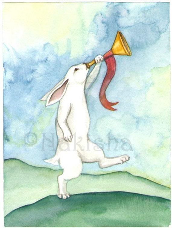 Judgment - The Rabbit Tarot - Limited Edition Fine Art Print - SALE