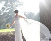 Wedding Veil Cathedral Bridal Veil with a Pencil Edge Trim