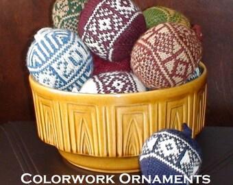 PDF Knitting Pattern - Colorwork Ornaments