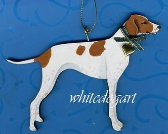 Handpainted English Pointer Christmas Ornament