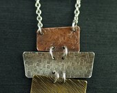 ON SALE!  50% OFF Sails - mixed metal necklace