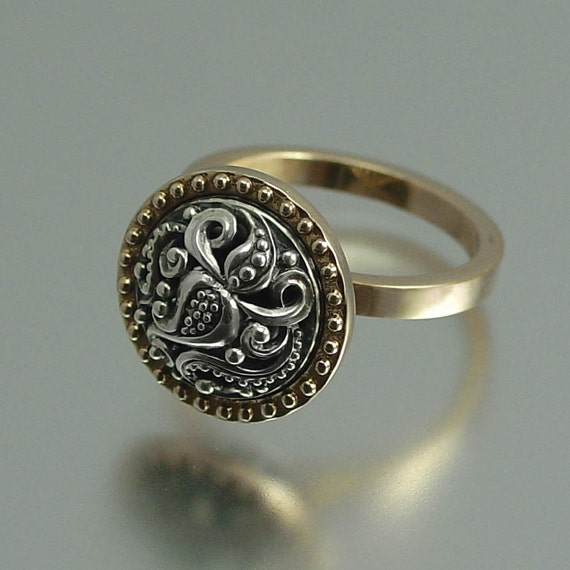 OLGA 14K gold and silver ring