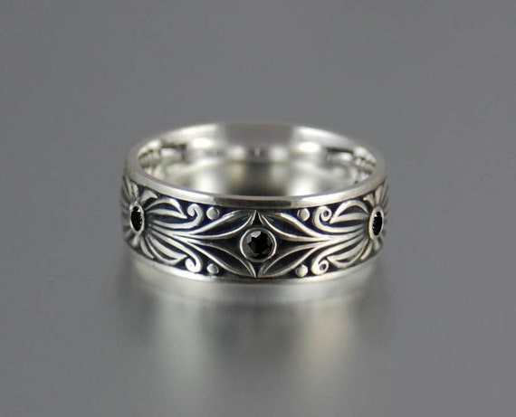 Two  BLACK COUNT sterling silver wedding bands Reserved for István