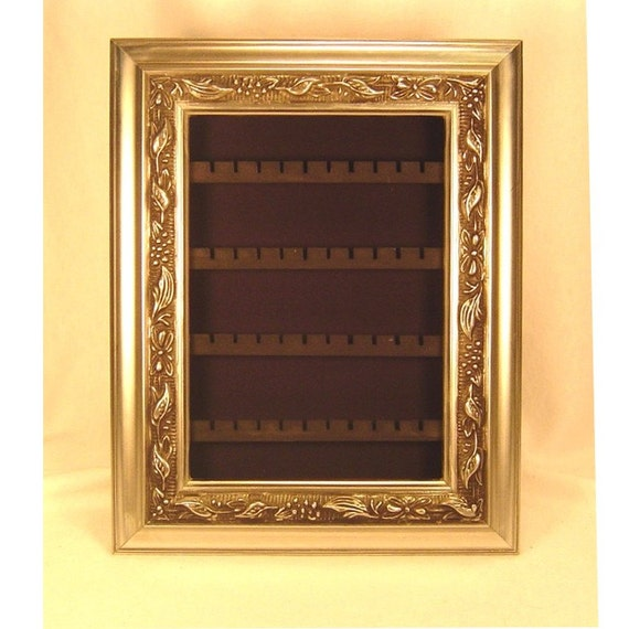 Earring Holder - Silver with Black Background - Small