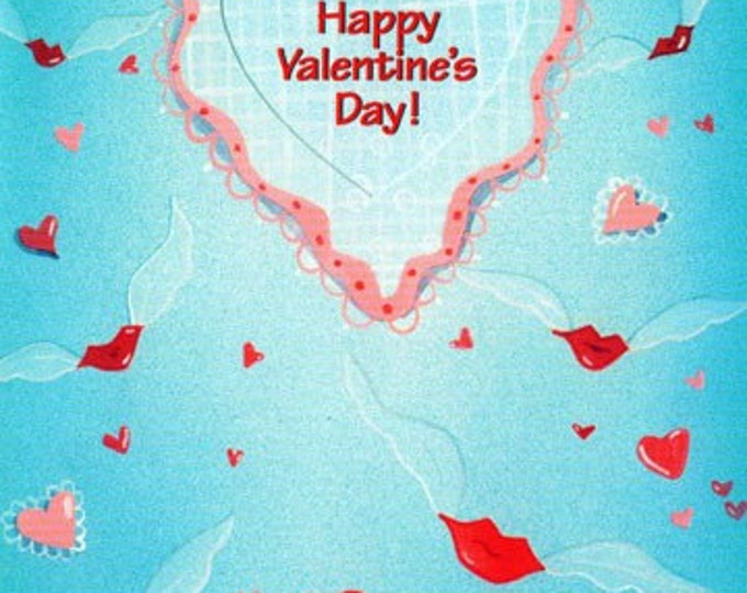 VALENTINE Greeting card by Valerie Walsh A gift certificate to Catch a Kiss