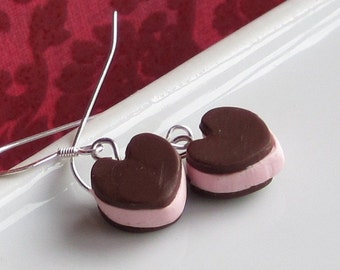 Valentine Heart Shaped Ice Cream Sandwich Earrings