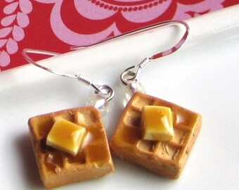 Breakfast Waffle Earrings