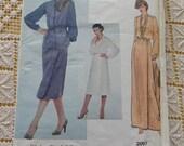 Vintage late 70s Bill Blass Designer Bill Blass Misses Vest Skirt and Blouse Pattern VOGUE American Designer 2097 sz 16 B38 UNCUT