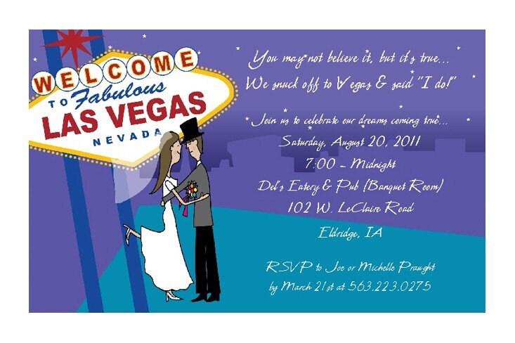 Las Vegas Wedding Invitations Reception By PracticallyDarling