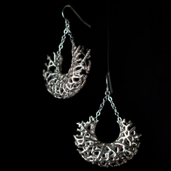 Silver Vessel Earrings