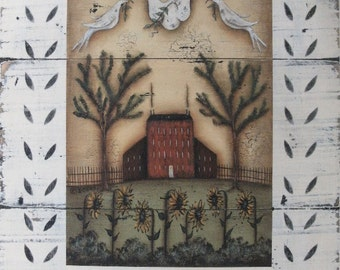 PEACE - signed dove bird print by Donna Atkins