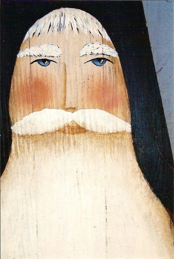 Prim Folk Art Santa St Nick Ironing Board By Folkartbydonna