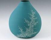 Vase Aqua - SALE Porcelain Pebble Vase in Aqua