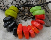 Lampwork Spacers, 12 Made To Order Artisan Handmade Spacers, 24 Colors-2 hole sizes. SRA LETEAM Glassymom