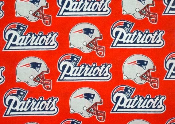 New England Patriots Quilt Fabric Nfl Super Bowl Football
