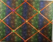 Halloween Spiders Memory Board French Memo Board, Fabric Message Board, Halloween Decor, Teacher Appreciation Gift, Ribbon Pin Board