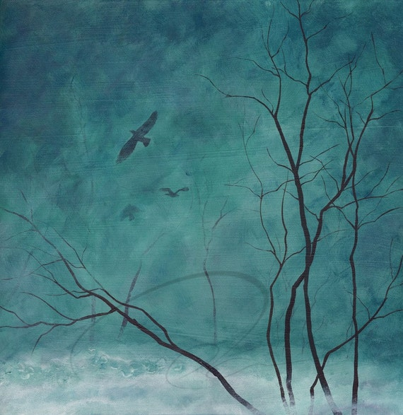 Awakening - Art Giclee Print Gothic Forest Haunted Scene Canadian Landscape Painting Available in Paper and Canvas by Olga Cuttell