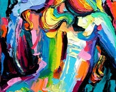 Femme 104 - Large 18x24 abstract nude print reproduction by Aja ebsq