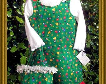 CLEARANCE SALE Green Christmas Mitten Jumper, Shirt & Matching Bag - Size 3T