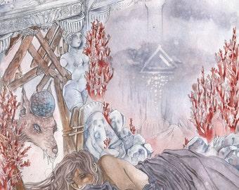 Rain Tower - Faerie / Magical / Fantasy Art Print