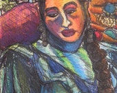 Original Mexicana de Nuevo Leon Dreaming of Mexico Mixed Media on Handpulled Lithograph