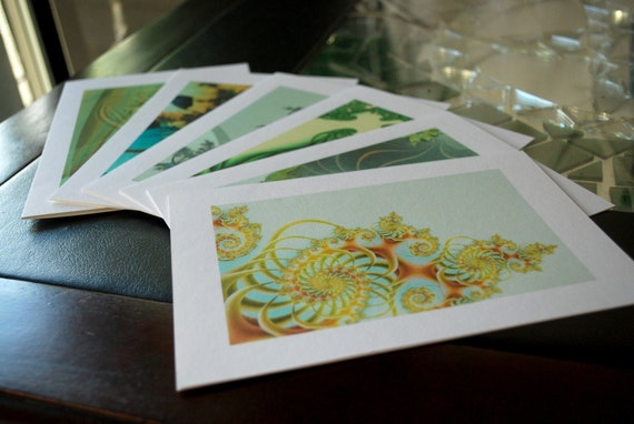 Greeting Card Assortment - Spring Greens (set of 6)