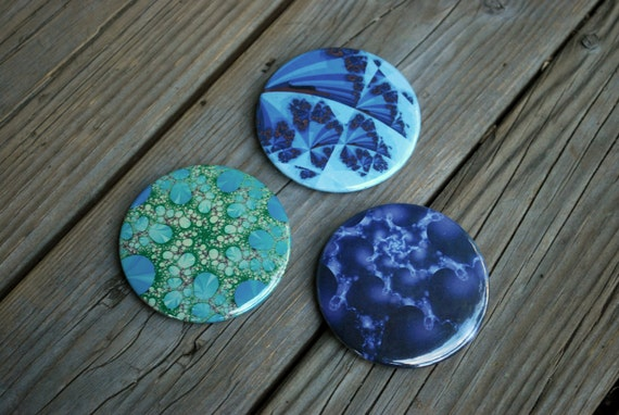 Deep Blue Infinity - Fractal Magnet Assortment (set of 3)