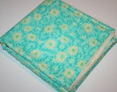 Baby Blanket - Bright Yellow and Green Blanket - Chenille Blanket with Flowers