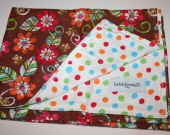 Flannel Baby Blanket - Swaddling Blanket - Troplical Flowers Blanket - Girl Baby Blanket - Baby Gift Idea Girl