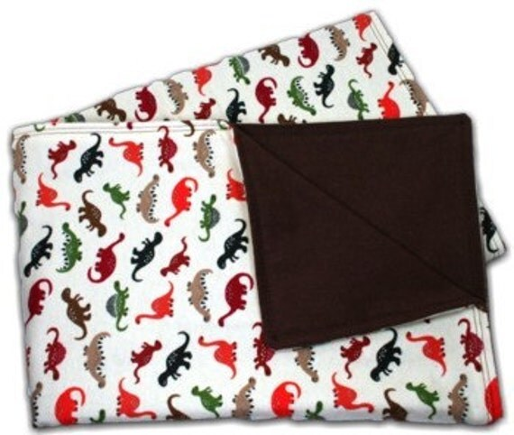 Dinosaur Baby Blanket - Flannel Receiving Blanket - Swaddle Blanket - Personalized Baby Blanket