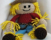 PDF - Gary the Scary Scarecrow Amigurumi Crochet Pattern - INSTANT DOWNLOAD