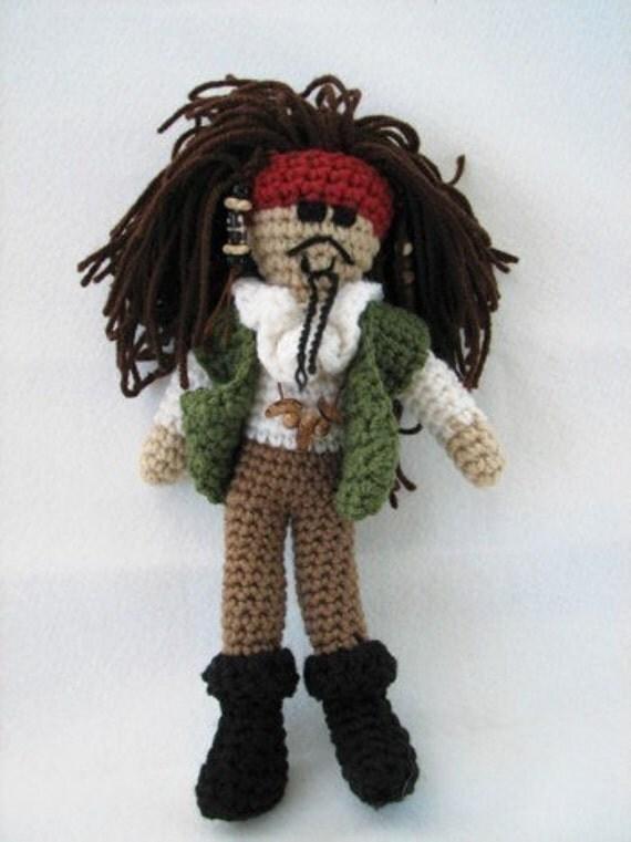 PDF - Scurvy Pirate Amigurumi Crochet Pattern - INSTANT DOWNLOAD