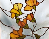 Stained Glass Magnolia Blossoms Window