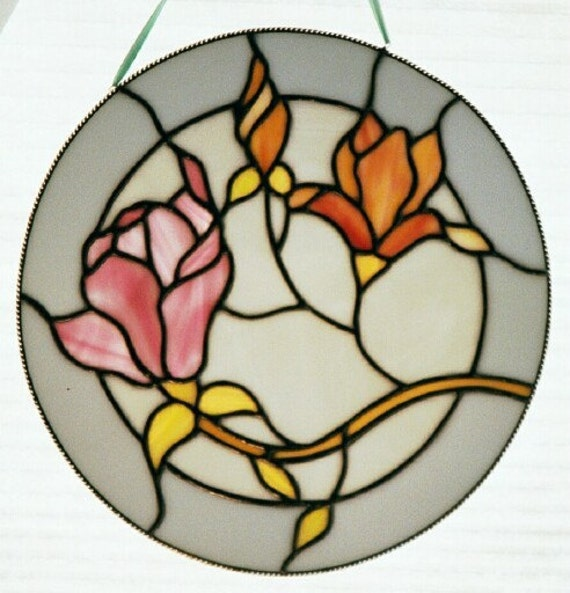 Stained Glass Floral Round Window