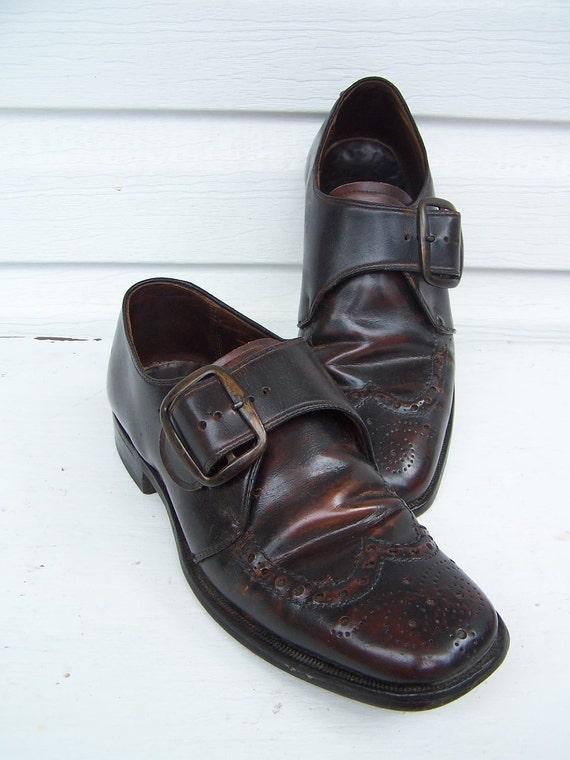 Vintage Monk Strap Men's Shoes / size 7.5D