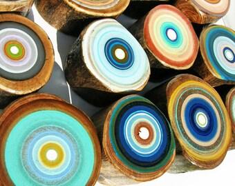Painting, Wood, Mid Century Modern,Tracy Melton, Art, Paintings, Tree Rings, Wood Wall Art, Large Wall Art, Wood Art, 5th anniversary gift