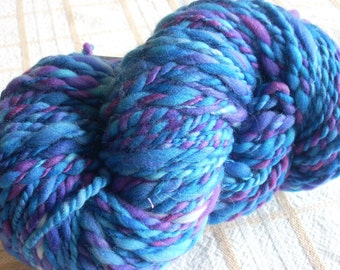 Handspun Hand-dyed Superwash Merino Wool - 104 yds