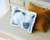 Miniature Husky Print Cushion