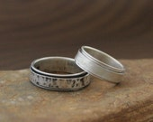 Handmade Spinner Ring in Sterling Silver - Choose Your Finish - Made to Order