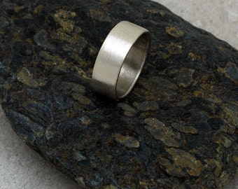 MEDIUM Brushed Matte Ring - A Band for Men or Women - Made to Order in Sustainable Silver