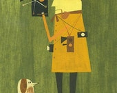 The film maker.  Limited edition 8.5x11 print by Matte Stephens.