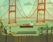 Golden Gate Bridge.  Limited edition 16x20 print by Matte Stephens.