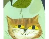 Cat Bird. 8.5 x 11 print by Matte Stephens.