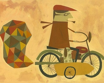 Going for a ride. Limited edition print by Matte Stephens.